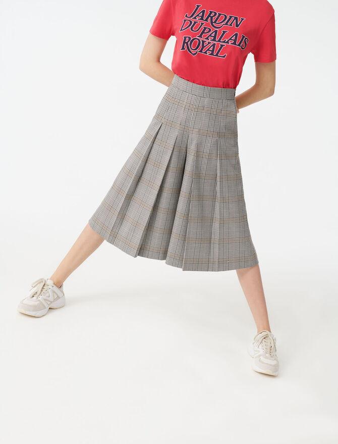 Pantalon à carreaux façon bermuda - Pantalons & Jeans - MAJE