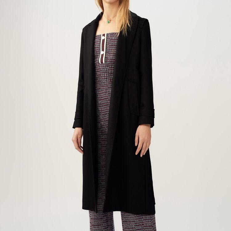 Trench avec ceinture amovible : Manteaux couleur Black
