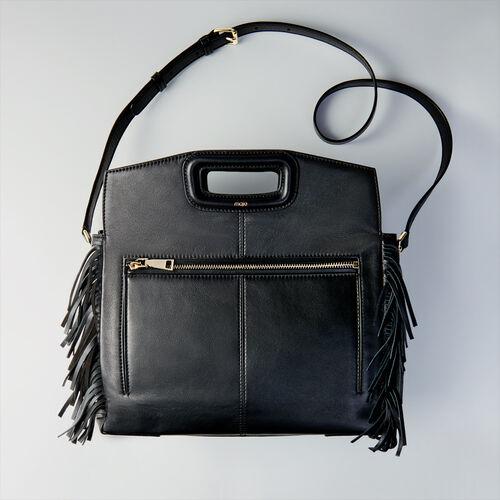 Sac besace en cuir : Cabas & M Walk couleur Noir