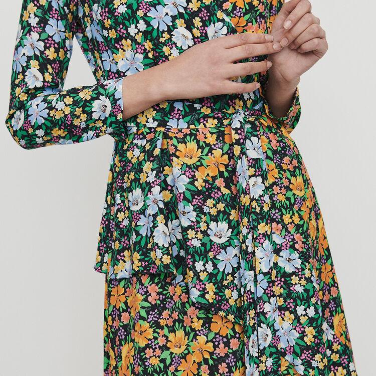 Robe longue à imprimé floral : Robes couleur IMPRIME