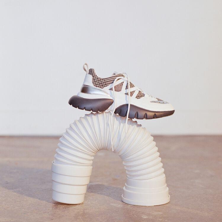Sneakers W20 urbaines à carreaux : Sneakers couleur MULTICO