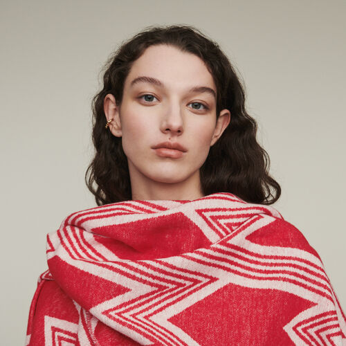 Poncho à motif M art déco : New in : Collection Été couleur Rouge