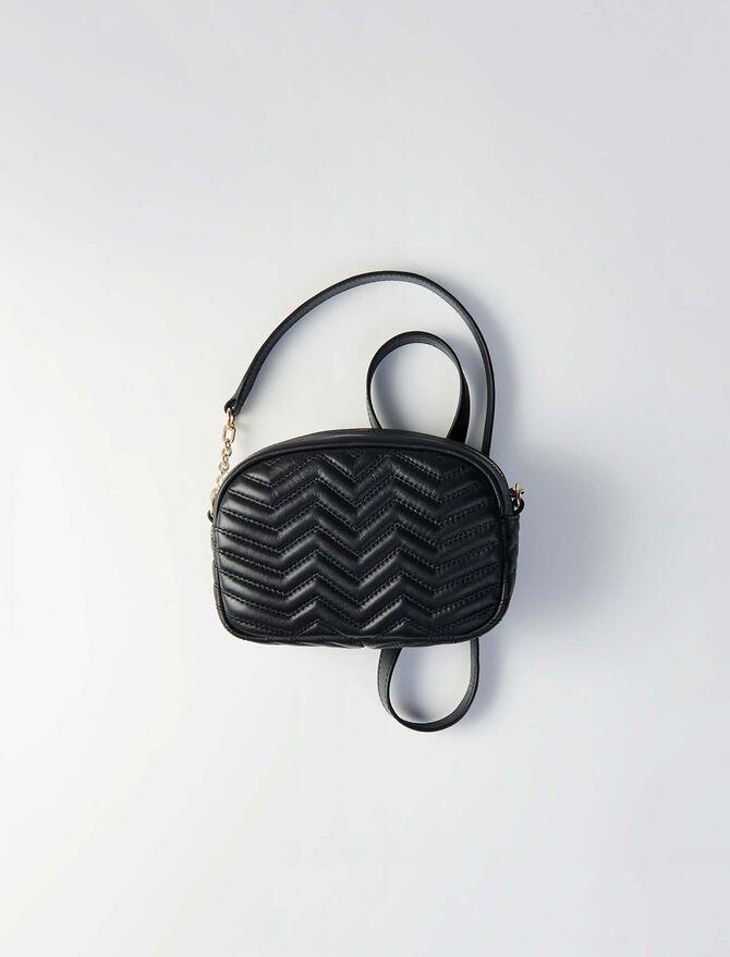 Camera-bag en cuir matelassé - Sac Sami - MAJE
