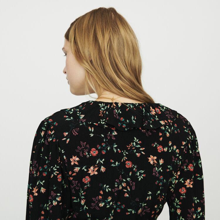 Robe cache-cœur imprimée : Robes couleur IMPRIME