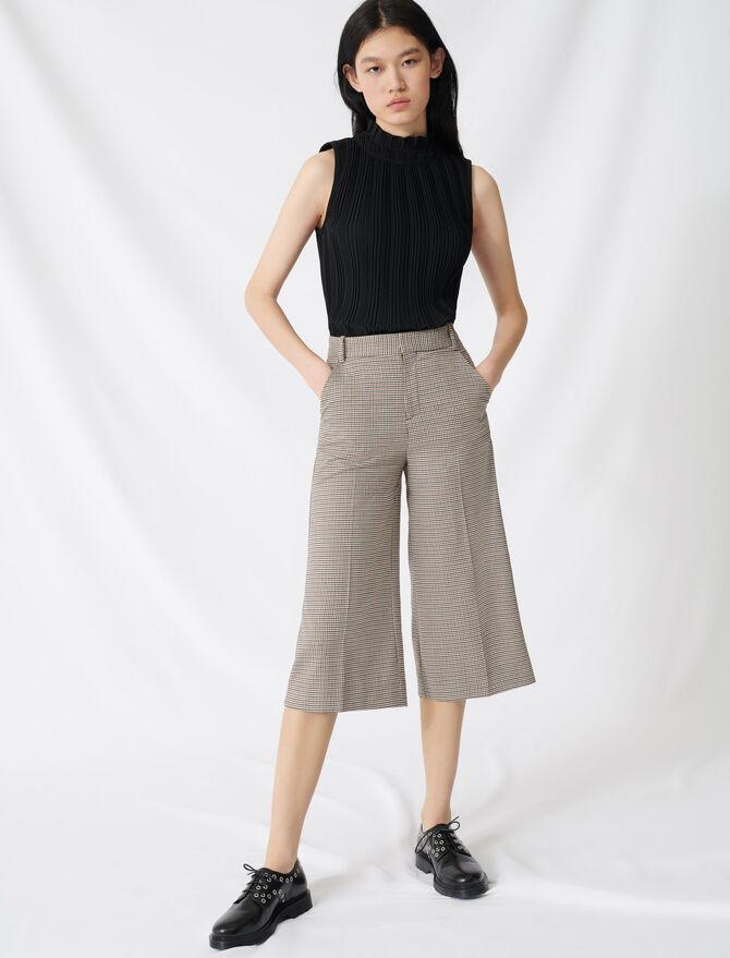 Short long imprimé prince de Galles - Jupes & Shorts - MAJE