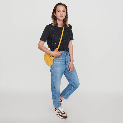Tee-shirt strassé : T-Shirts couleur Anthracite