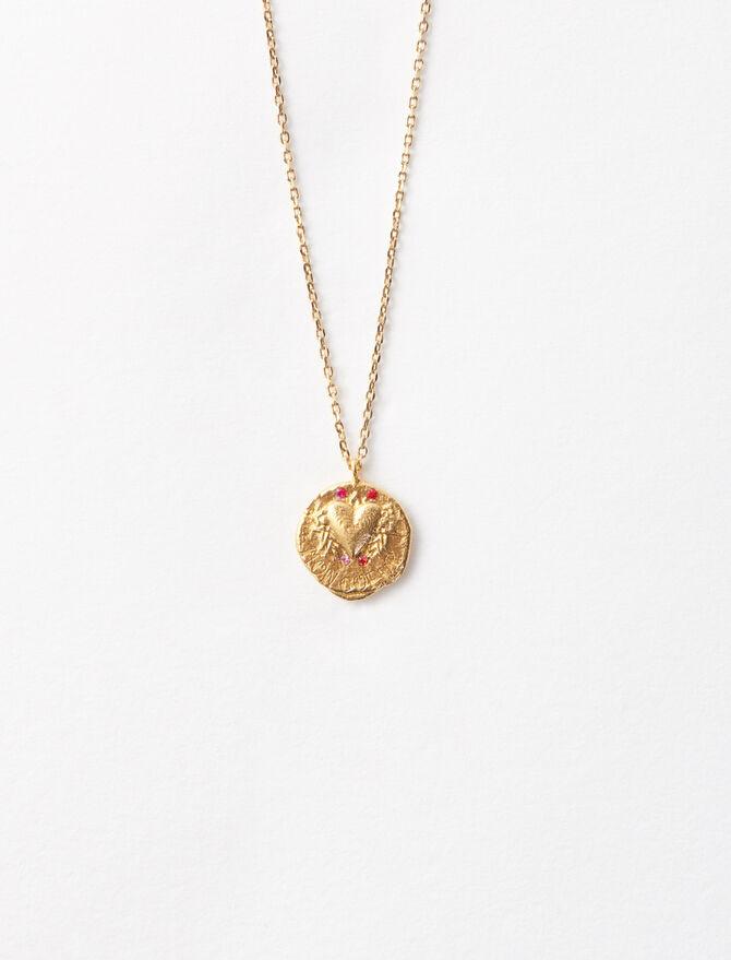 """Collier """"Mon cœur"""" en plaqué or -  - MAJE"""