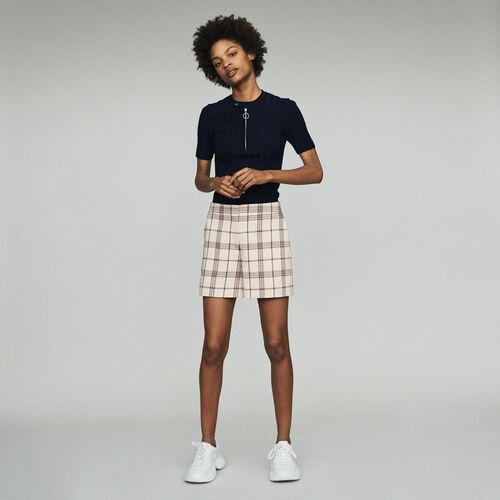 Short à carreaux : Jupes & Shorts couleur CARREAUX