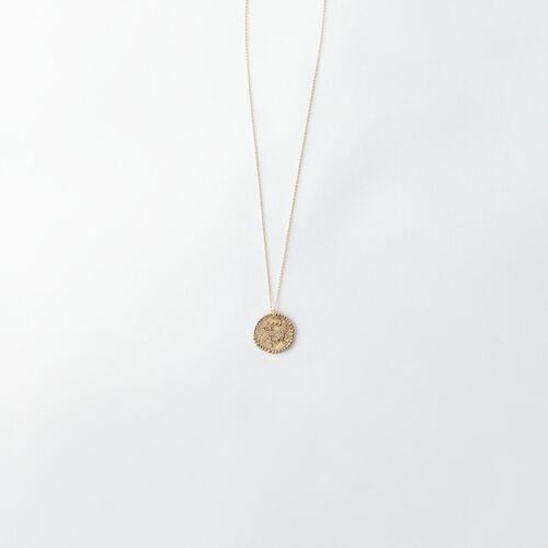 Collier Lion signe du zodiaque : Bijoux couleur Vieux Laiton