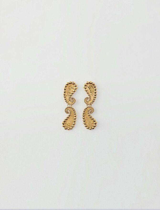 Boucles d'oreilles motif paisley -  - MAJE
