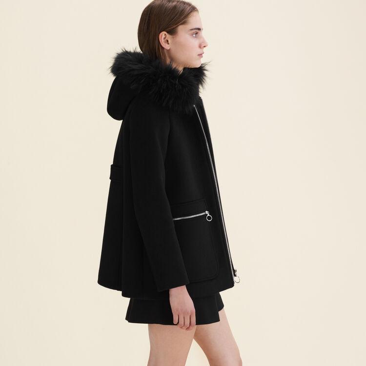 Manteau avec zips fantaisie : Manteaux couleur Gris