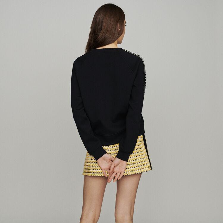 "Sweat avec bande ""With Love"" : Pulls & Cardigans couleur Black"