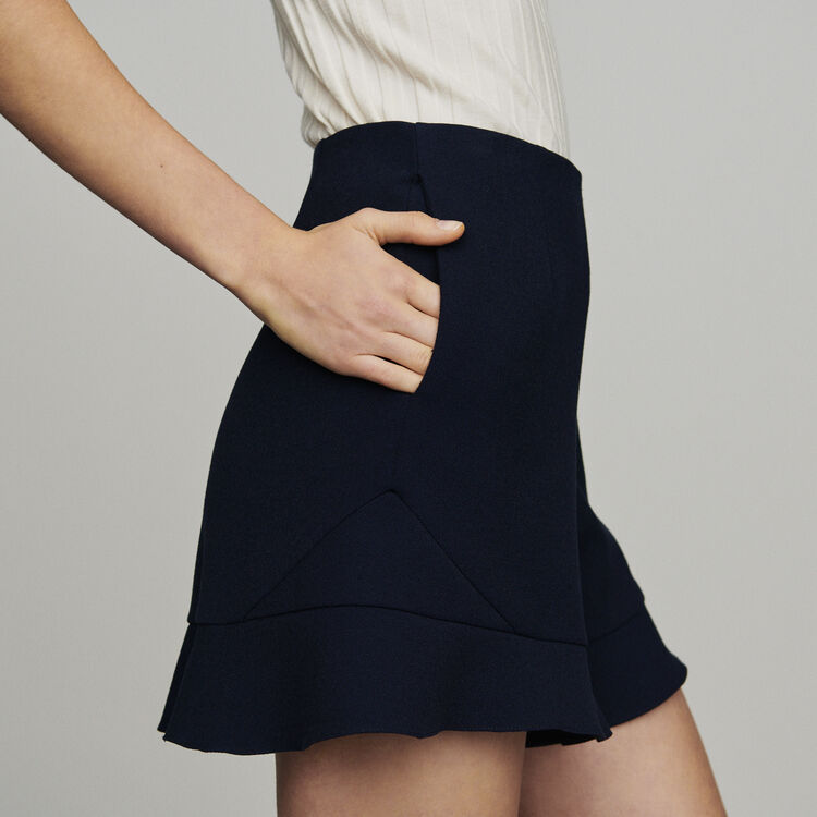 Short à volants : Jupes & Shorts couleur Marine