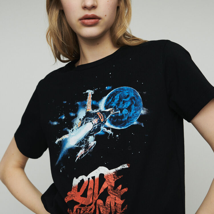 Tee-shirt avec impression : T-Shirts couleur Black