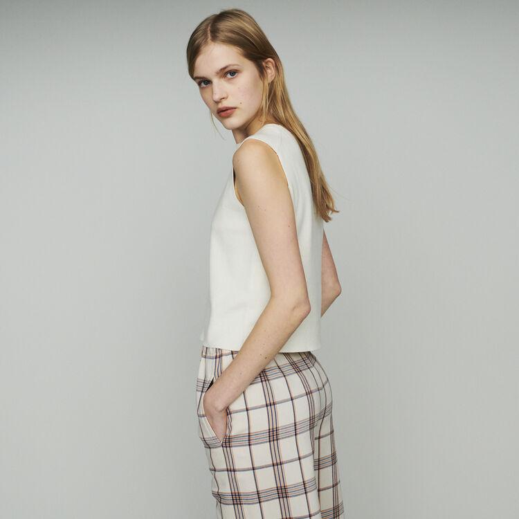 Pull sans manchesen coton mélangé : Pulls & Cardigans couleur ECRU