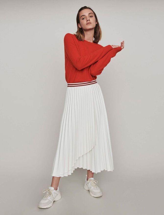 Jupe plissée à bandes contrastées - Midseason-Sales_UK_30% - MAJE