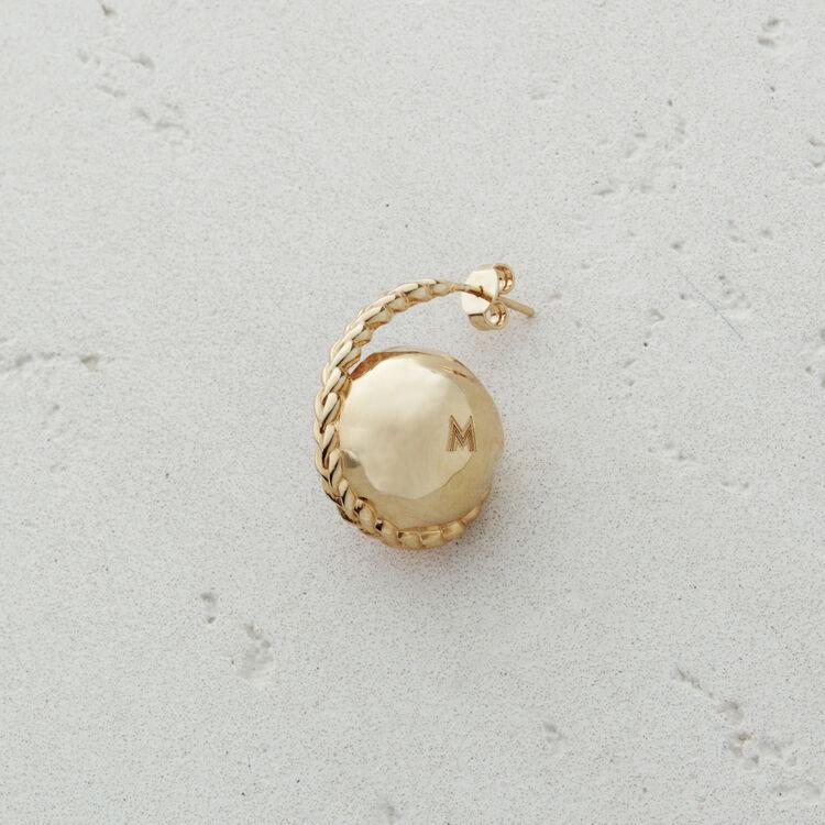 Boucle d'oreille droite en pierre : Bijoux couleur ROSE PALE