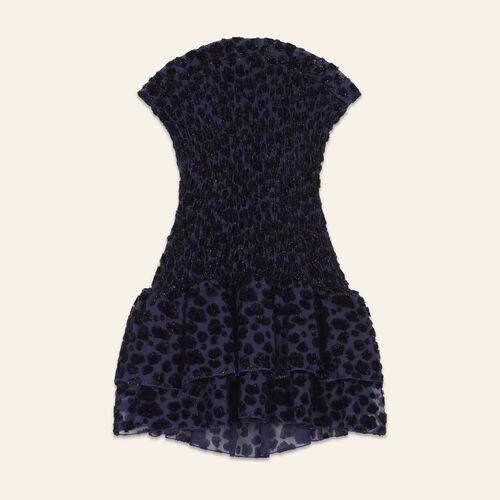 Robe bustier à motif léopard - Robes - MAJE