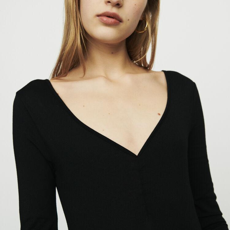 Body à manches longues : T-Shirts couleur Black