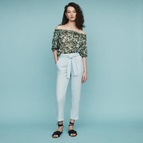 Pantalon à pinces : Pantalons & Jeans couleur Bleu Ciel