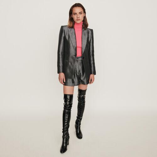 Veste de tailleur en Lurex : Collection hiver couleur Argent