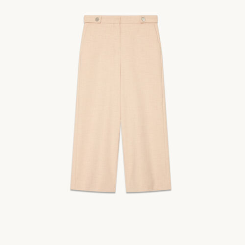 Pantacourt large : Pantalons & Jeans couleur NUDE