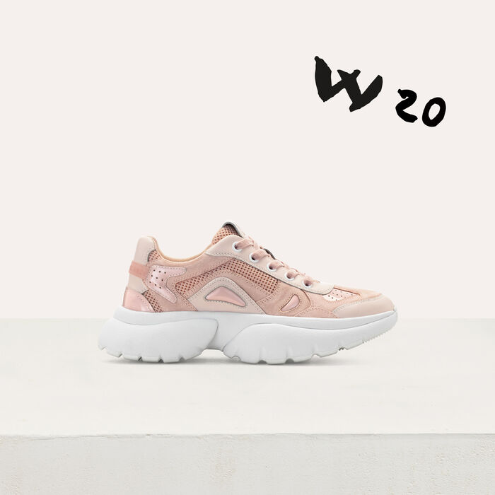 Sneakers W20 urbaines en cuir : Sneakers couleur Rose
