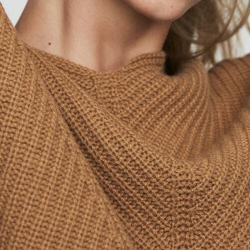 Pull oversize en cachemire : Maille couleur Camel