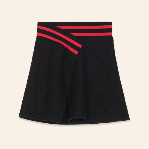 Jupe asymétrique en tweed - Jupes & Shorts - MAJE