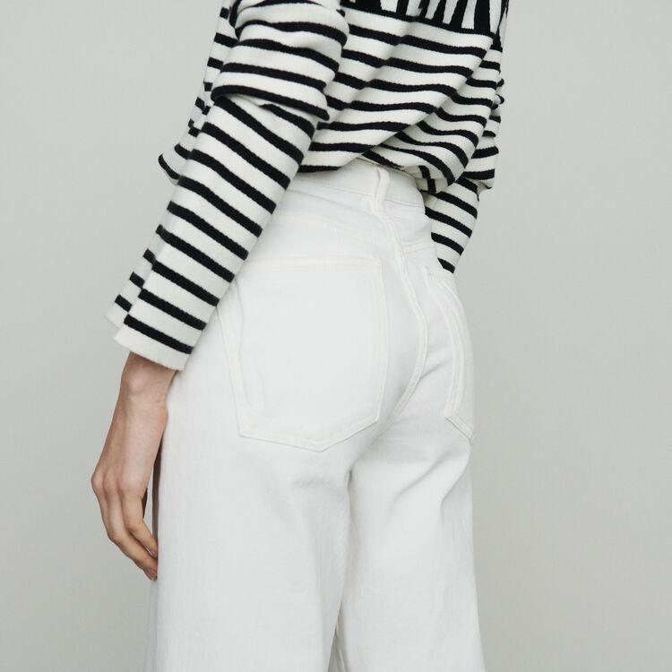 Jean taille haute : Pantalons & Jeans couleur Blanc