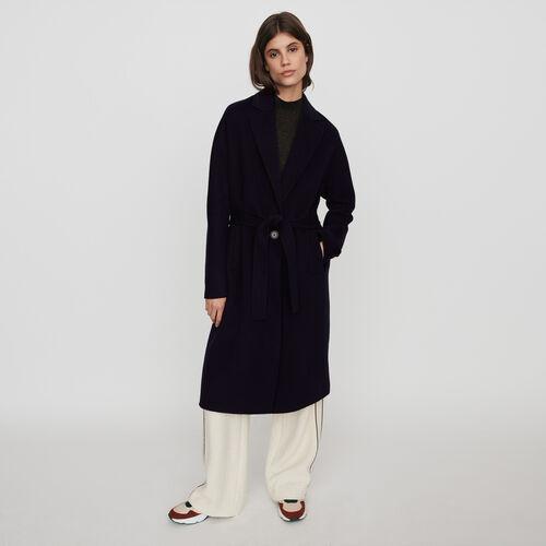 Manteau en double face ceinturé : Manteaux & Blousons couleur Marine