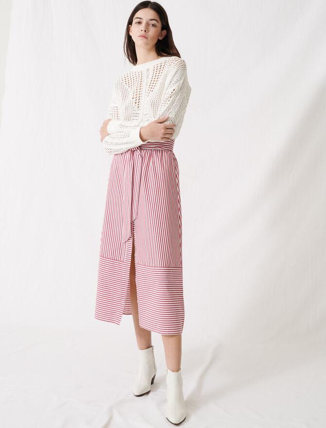 Jupe longue rayée à nouer - Jupes & Shorts - MAJE