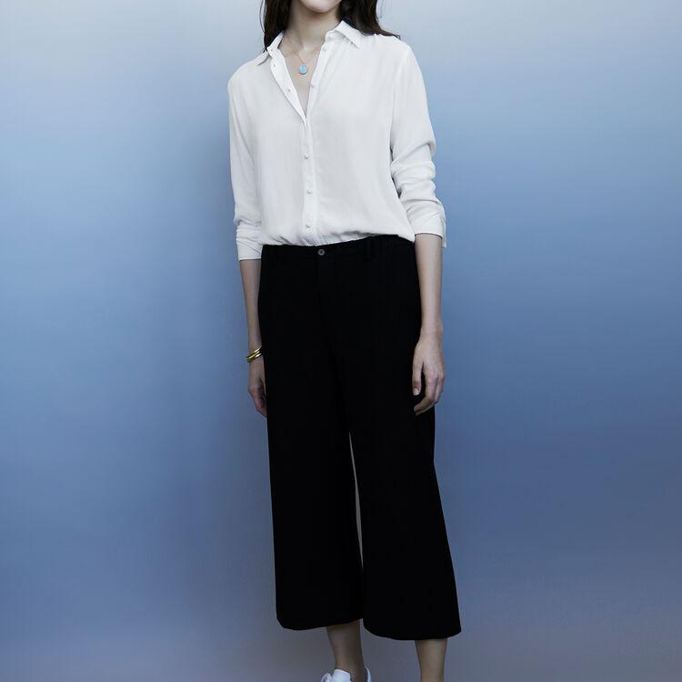 Pantalon large de tailleur : Pantalons couleur Black
