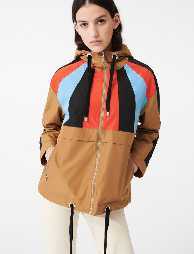 Coupe vent à capuche multicolore - Manteaux & Blousons - MAJE