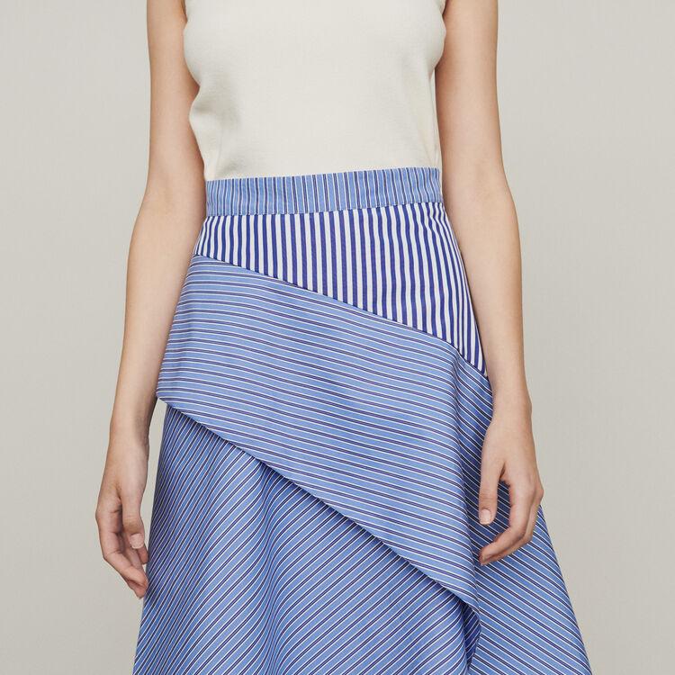 Jupe en coton à rayures : Jupes & Shorts couleur Rayure