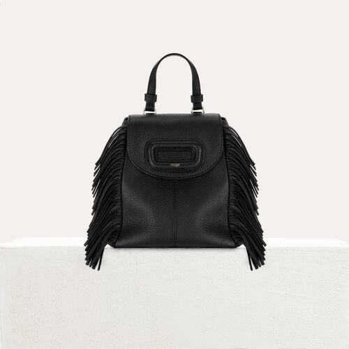 Sac à dos M Mini en cuir avec chaine : Autres M couleur Black