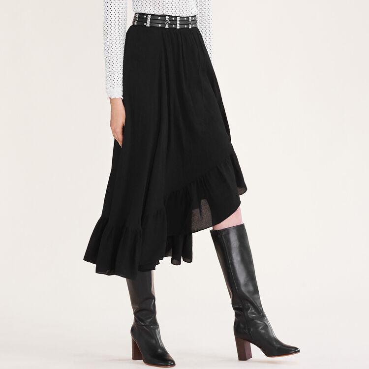 Jupe asymétrique à volants - Jupes & Shorts - MAJE
