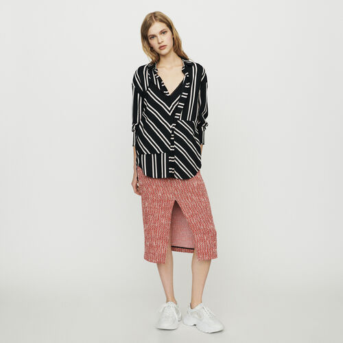 Chemise à rayures trompe-l'œil : Tops couleur Rayure