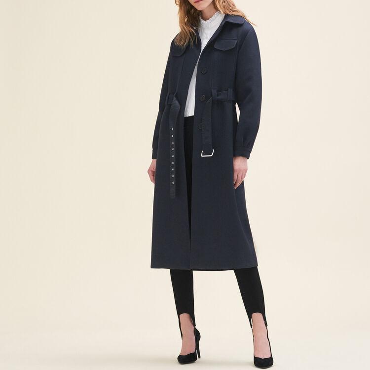 Manteau long en laine : Manteaux couleur Nuit