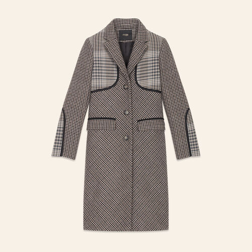 Manteau à carreaux - Manteaux - MAJE