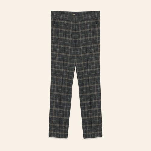 Pantalon cigarette en tartan - Pantalons - MAJE