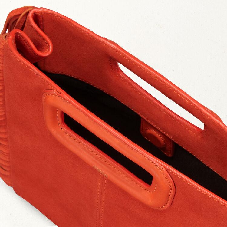 Sac M en suède : Sacs M couleur Orange