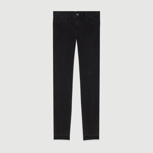 Jean skinny en coton stretch : Pantalons & Jeans couleur Anthracite