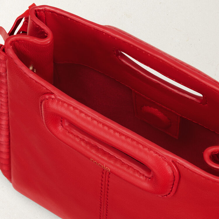 Sac M Mini en cuir avec franges : Sacs M couleur RED