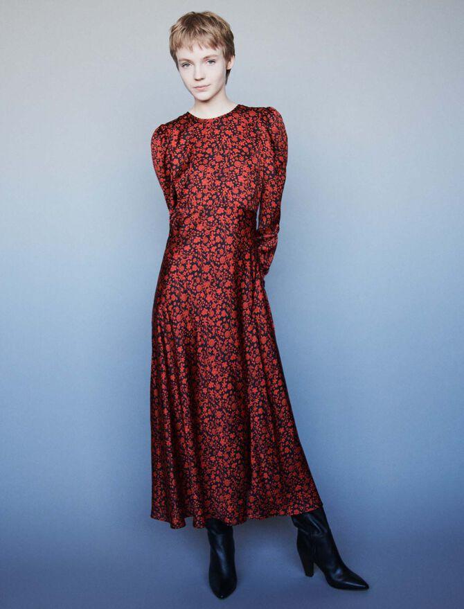 Robe en satin imprimé - Robes - MAJE