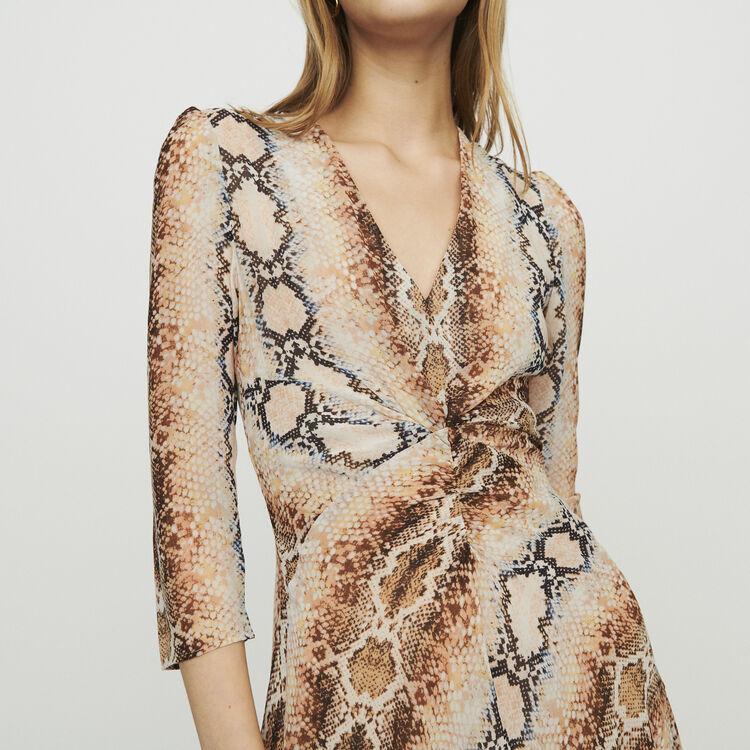 Robe longue à imprimé python : Robes couleur Imprime