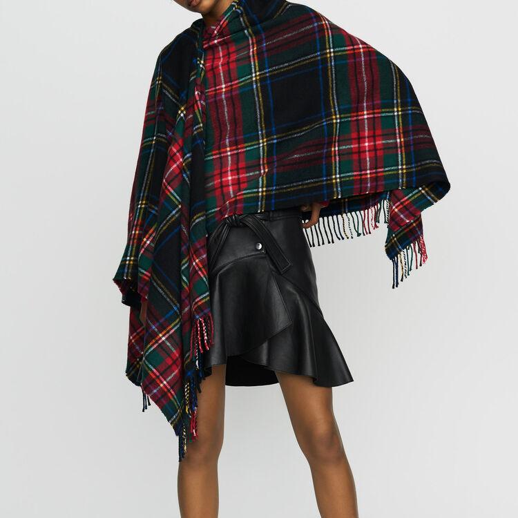 Poncho à motif tartan : Châles & Ponchos couleur MULTICO