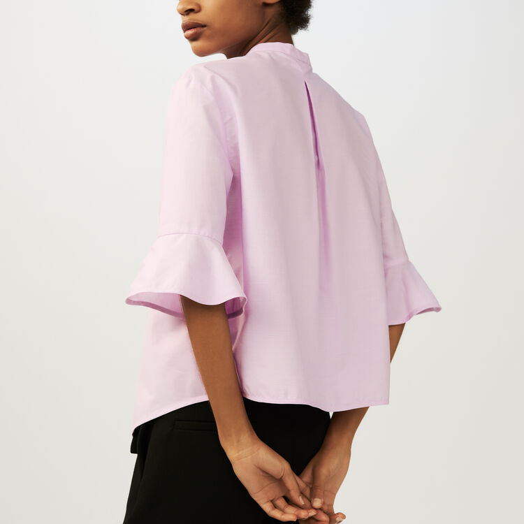 Chemise oversize en popeline : Chemises couleur Rose