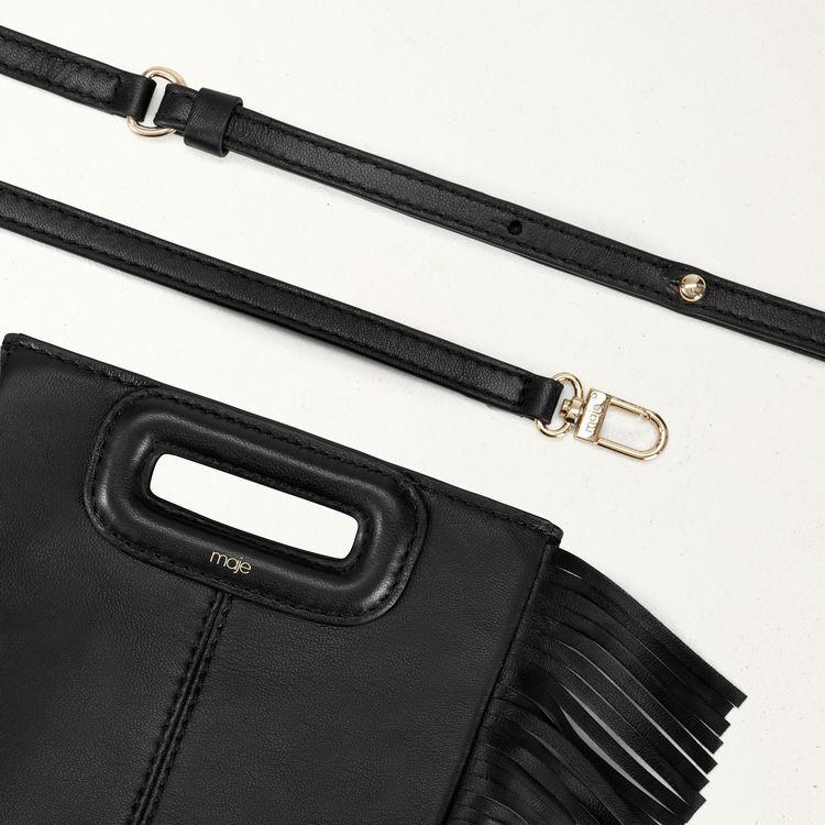 Sac M Mini en cuir avec chaîne : M Mini couleur Noir
