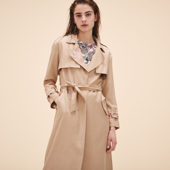 Trench avec broderies -  - MAJE